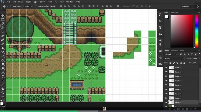 Create Pixel Art Fundamentals Background
