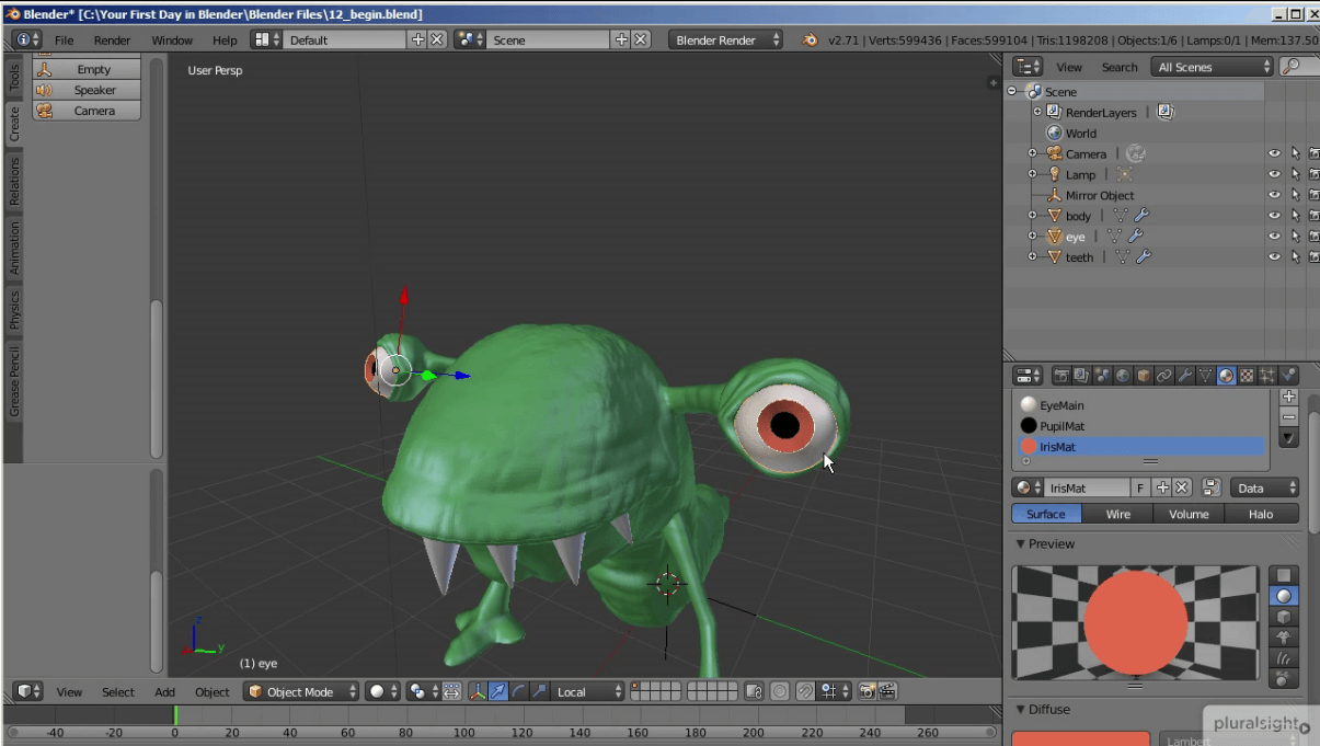 Your First Day in Blender Creature 2